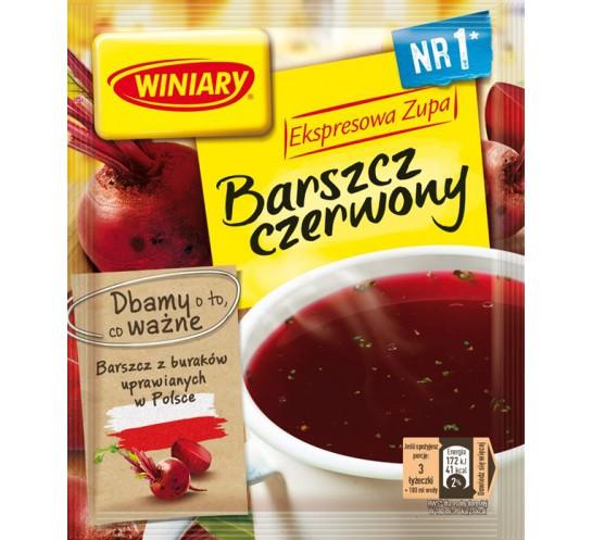 WINIARY -  ZUPA BARSZCZ CZERWONY INSTANT 60G