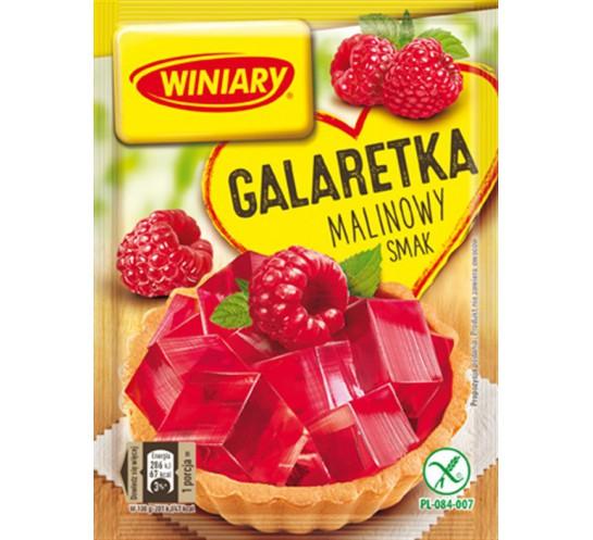 WINIARY - GALARETKA MALINOWA 75G