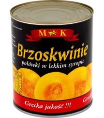 MK - BRZOSKWINIE W SYROPIE 850G