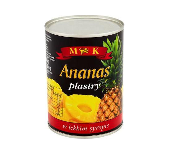 MK - ANANAS PLASTRY 565G
