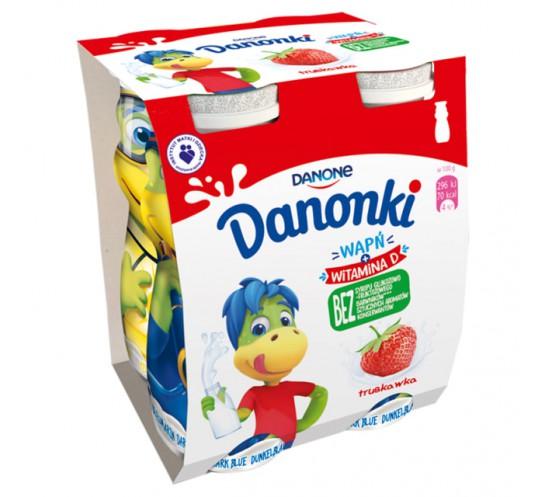 DANONE - DANONKI DO PICIA TRUSKAWKA 4X100G