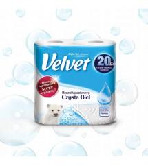 VELVET - RĘCZNIK A'2 CZYSTA BIEL
