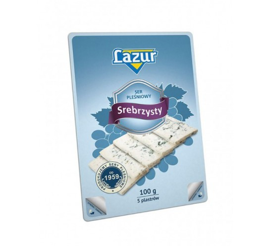 LAZUR - SER SREBRZYSTY PLASTRY 100G