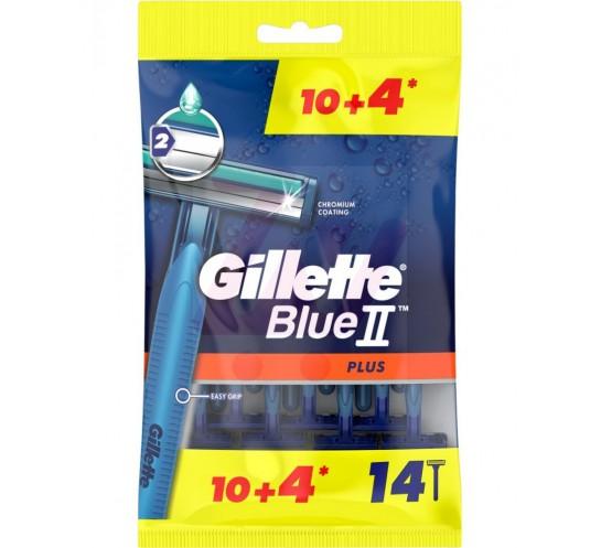 GILLETTE - BLUE II PLUS MASZYNKI DO GOLENIA 14SZT