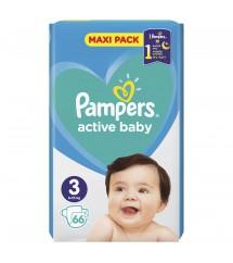 PAMPERS -  PIELUSZKI ACTIVE BABY MAXI PACK S3 66 SZT