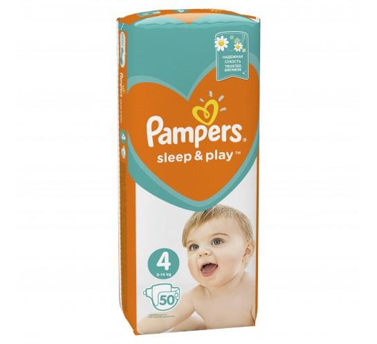 PAMPERS - Pieluszki Sleep&Play Maxi - duże opakowanie (50)