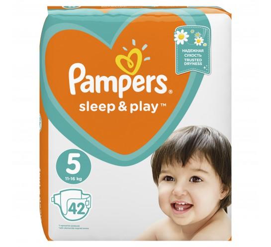 PAMPERS - Pieluszki Sleep&Play Junior - duże opakowanie (42)