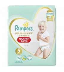 PAMPERS -  Premium Pieluchomajtki Value Pack S5 34 SZT