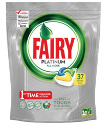 FAIRY -  TABLETKI DO ZMYWARKI PLATINIUM YELLOW 37 SZT.