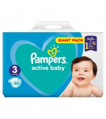 PAMPERS - PIELUSZKI ACTIV BABY GIGA PACK S3 - 90 SZTUK