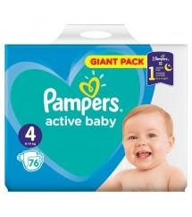 PAMPERS - PIELUSZKI ACTIV BABY GIGA PACK S4 - 76 SZTUK