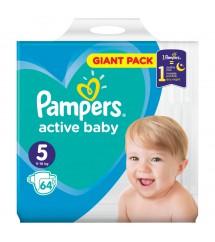 PAMPERS - PIELUSZKI ACTIV BABY GIGA PACK S5 - 64 SZTUKI