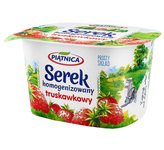 PIĄTNICA OSM - SEREK HOMOGENIZOWANY TRUSKAWKA 150G