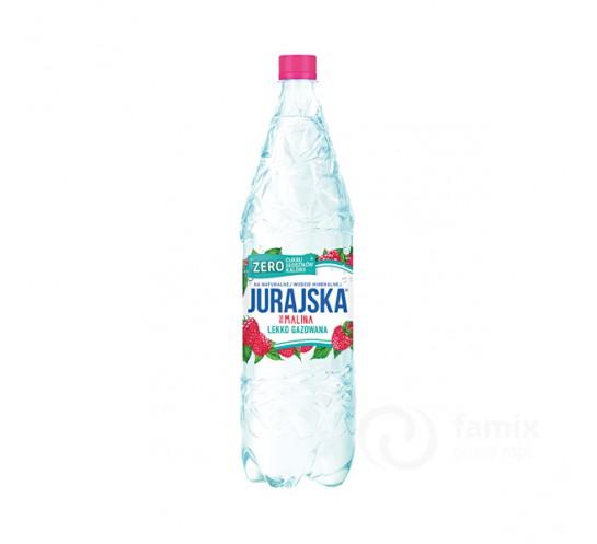 JURAJSKA - WODA LEKKO GAZ. 1,5L MALINA ZERO CUKRU