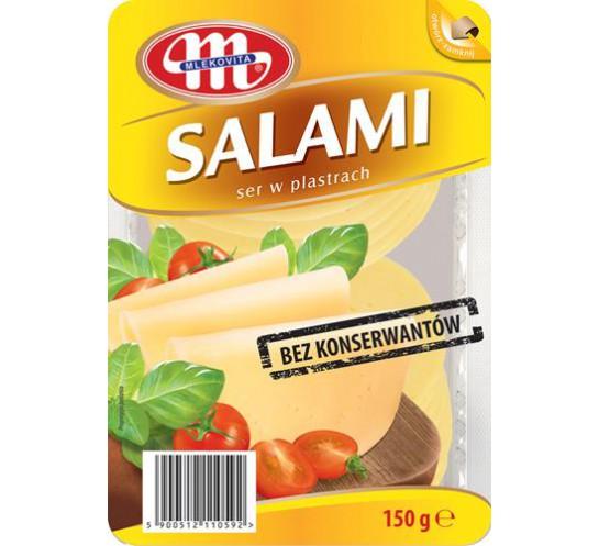 MLEKPOL-SER PLASTRY SALAMI 150G