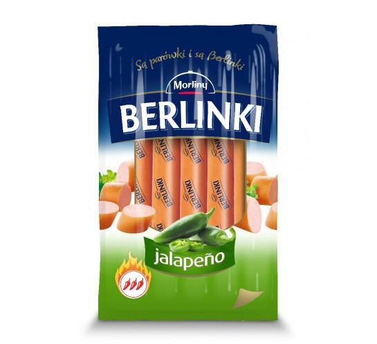 BERLINKI - PARÓWKI JALAPENO 250G