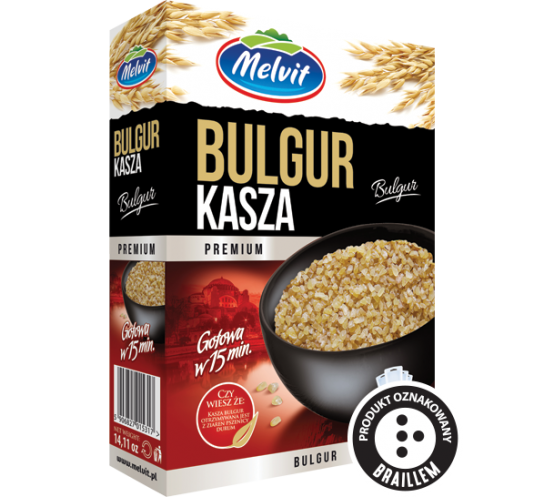 MELVIT - KASZA BULGUR 4x100G