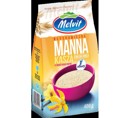 MELVIT - KASZA MANNA BŁYSKAWICZNA WANILIOWA 400G