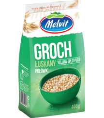 MELVIT - GROCH ŁUSKANY POŁÓWKI 400G